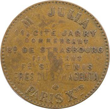 IIIe République, jeton de maison close, Mme Julia (Paris), s.d