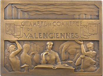Theunissen (C.) : Chambre de commerce de Valenciennes, en bronze, 1897 Paris