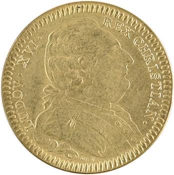 Bretagne (États de), jeton des États de Rennes, refrappe moderne en laiton, 1788 Paris