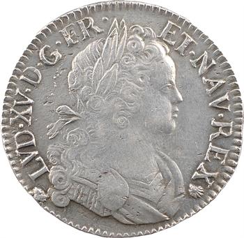 Louis XV, écu de Navarre, 1719 Troyes