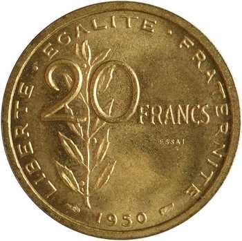 IVe République, essai de 20 francs par Guzman, 1950 Paris