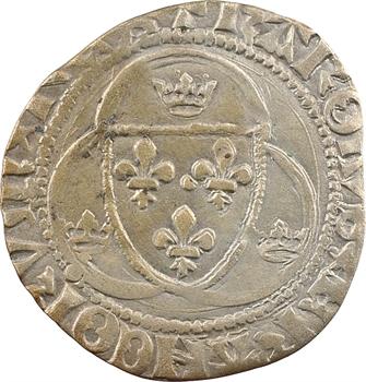 Charles VII, blanc à la couronne, 4e émission, Troyes