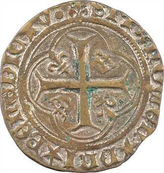 Louis XII, grand blanc à la couronne, faux d'époque [Troyes]