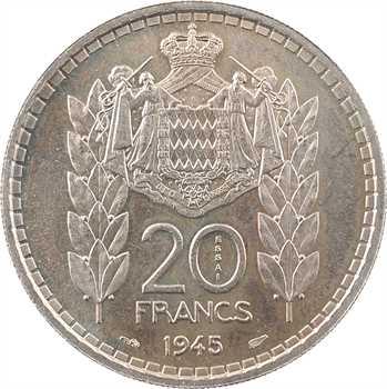 Monaco, Louis II, essai de 20 francs, 1945 Paris
