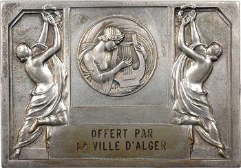 Algérie, Alger, plaque offerte par la ville, s.d. (1960) Paris