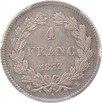 Louis-Philippe Ier, 1 franc, 1832 Rouen, PCGS MS64