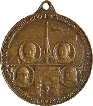 États-Unis / France, les premières traversées de l'Atlantique, par Soutis, 1930