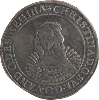 Pologne, Poméranie (duché de), Christine de Suède, riksdaler, 164Z Stettin