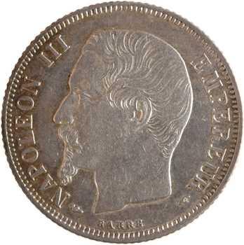 Second Empire, 1 franc tête nue, 1854 Paris