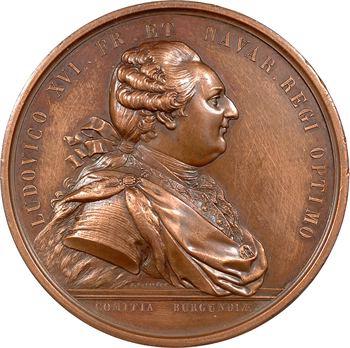 Louis XVI, prix d'industrie à l'Académie des Sciences, par Duvivier, 1782 Paris