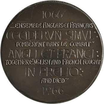 Royaume Uni/France, 9ème centenaire de la Bataille d'Hastings, par Coëffin, N°98/500, 1066-1966 (1967) Paris
