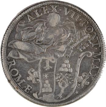 Vatican, Alexandre VII, piastre, s.d. (1655-1667) Rome