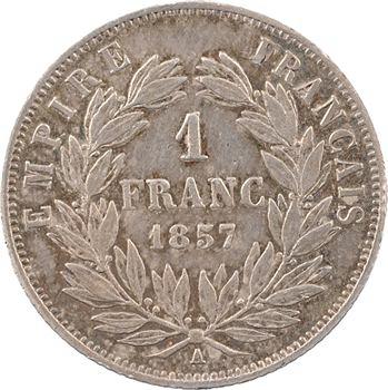 Second Empire, 1 franc tête nue, 1857 Paris