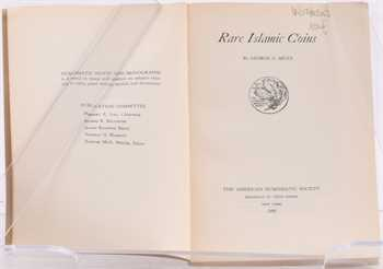 Miles (G. C.), Rare Islamic Coins, coll. Numismatic Notes and Monographs, 118, New York, 1950