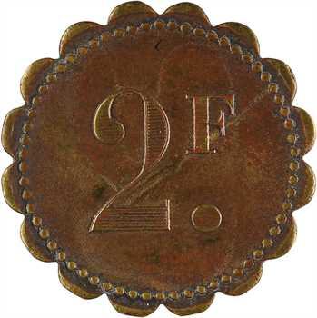 Algérie, Alger, bar américain Mascot Rochs, 2 francs, s.d