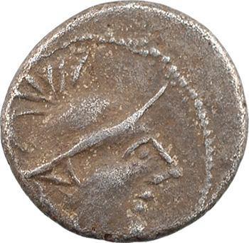 Allobroges, denier à l'hippocampe à droite, classe II, c. IIe-Ier s. av. J.-C.