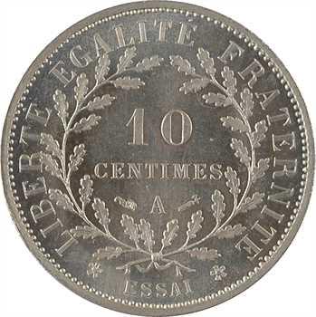 IIIe République, essai de 10 centimes Dupré rond, 1881 Paris