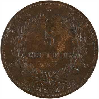 IIIe République, 5 centimes Cérès, 1885 Paris