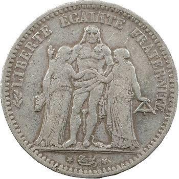 IIe République, 5 Francs Hercule, 1848 Bordeaux