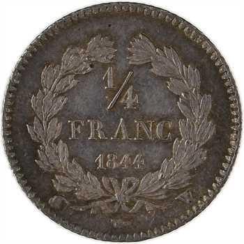 Louis-Philippe Ier, 1/4 franc, 1844 Lille