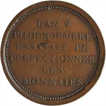 Consulat, essai de Gengembre à l'effigie de Lavoisier, An 9 Paris