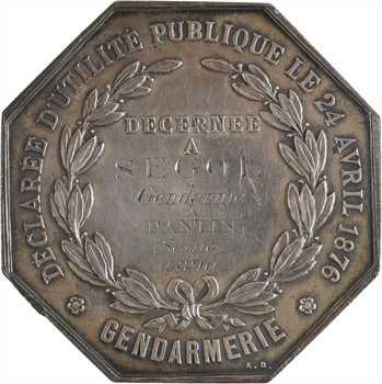 IIIe République, Gendarmerie, répression du braconnage, à M. Segol (Pantin), 1896 Paris