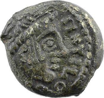 Carnutes, bronze PIXTILOS à l'aigle dans le temple, classe VIII, c.40-30 av. J.-C.