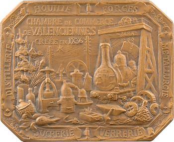Dautel (P.-V.) : Chambre de Commerce de Valenciennes, en bronze, s.d. Paris