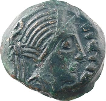 Carnutes, bronze PIXTILOS à l'oiseau, classe III, c.40-30 av. J.-C