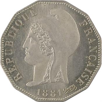 IIIe République, essai de 10 centimes Dupré dodécagonal, 1881 Paris