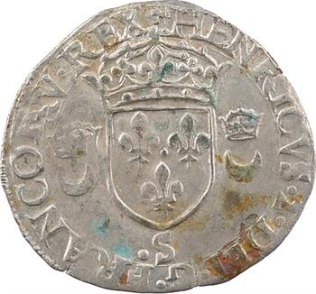 Henri II, douzain aux croissants, 1554 Troyes