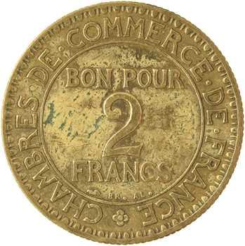 IIIe République, 2 francs Chambres de commerce, 1926 Paris