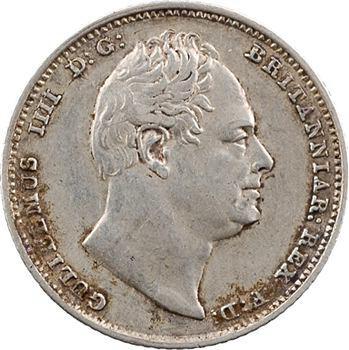 Royaume-Uni, Guillaume IV, sixpence, 1836 Londres