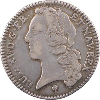 Louis XV, cinquième d'écu au bandeau, 1741 Troyes