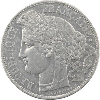 IIe République, épreuve uniface de 5 francs Cérès, étain, s.d. (1848) Paris