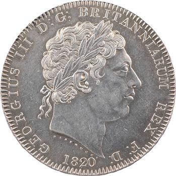 Royaume-Uni, Georges III, crown ou écu, 1820 (LX) Londres