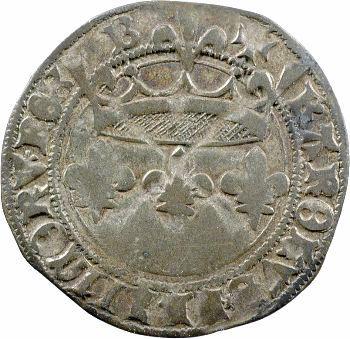 Charles VII, blanc aux lis accotés, Bourges