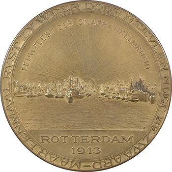 Pays-Bas, centenaire de l'indépendance (port de Rotterdam), 1813-1913