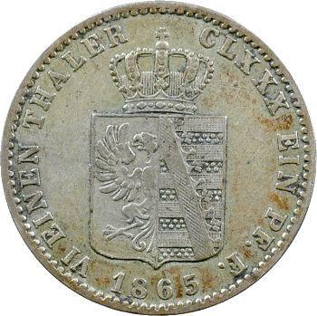 Allemagne, Anhalt (duché de), Léopold-Frédéric, 1/6e thaler, 1865