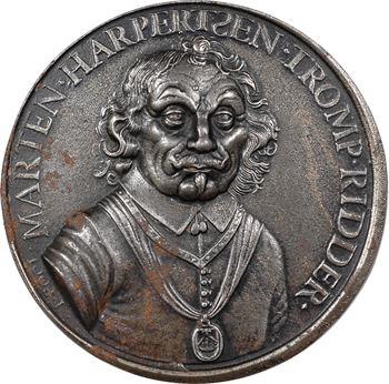 Pays-Bas, mort de l'amiral Maarten Tromp à la bataille de Scheveningen, par Pool, 1653 (postérieure)