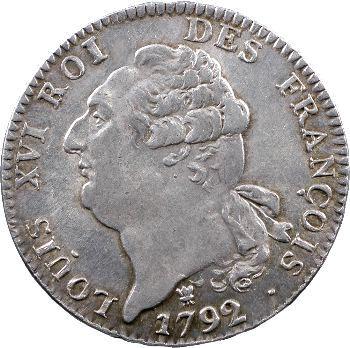 Constitution, écu de 6 livres FRANÇOIS, An 4, 2d semestre, 1792 Limoges