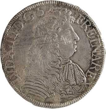 Louis XIV, écu à la cravate, 2e émission par F. Warin, 1684 Bayonne