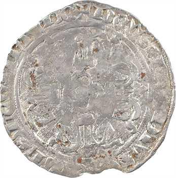 Bretagne (duché de), Jean IV, gros à l'écu heaumé, s.d. (c.1370-1373) Nantes ou Rennes