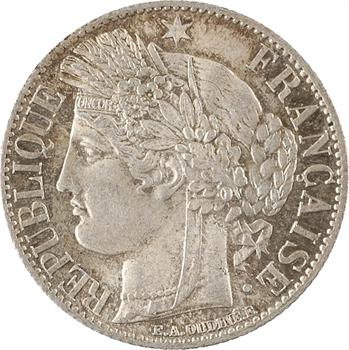 IIIe République, 1 franc Cérès, 1872 Bordeaux