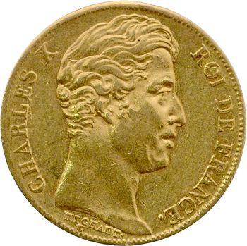 Charles X, 20 francs, 4 feuilles et demie, 1828 Paris