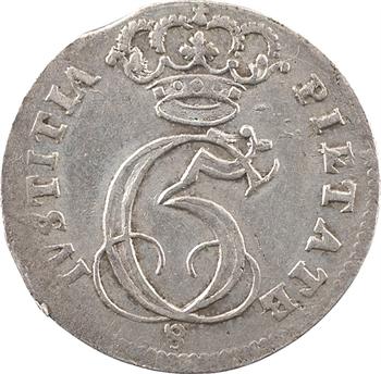 Danemark (royaume de), Christian V, 8 skilling (au chiffre), 1695 Glückstadt