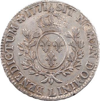 Louis XV, écu à la vieille tête, 1771 Bayonne