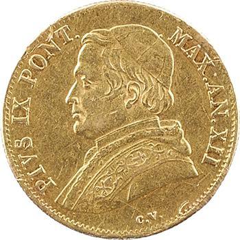 Vatican, Pie IX, 1 scudo, 1858/XII Rome