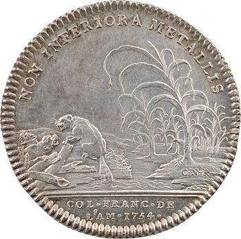 Amérique, Canada, Louis XV, jeton au castor, 1754 Paris