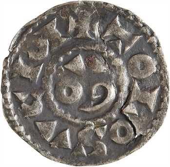 Toulouse (évêché de), sous Charles le Simple et l'évêque Hugues, denier, s.d. (avant 929) Toulouse